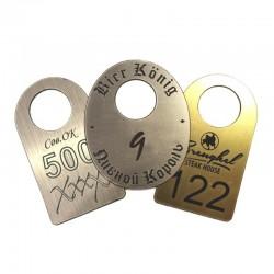 Номерок для гардероба металлизированный