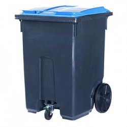 Мусорный пластиковый контейнер, 370 л.