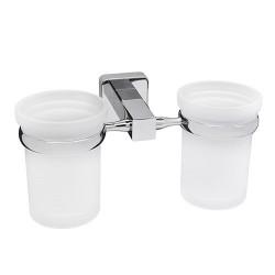 Подстаканник двойной стеклянный, WasserKRAFT