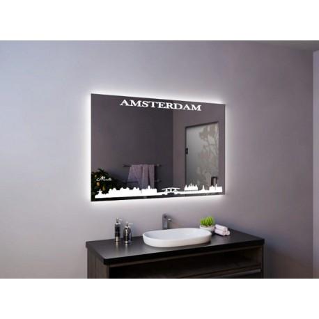 Зеркало с подсветкой для ванной Amsterdam