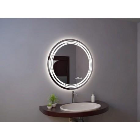 Круглое зеркало с подсветкой в ванную Arena