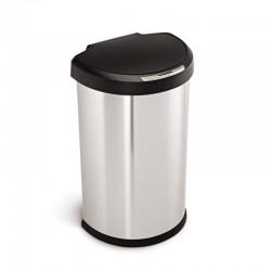 Полукруглый сенсорный мусорный бак Simplehuman, 45 л.