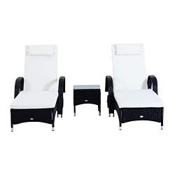 Набор мебели Outsunny , черный