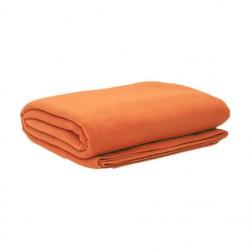 Плед флисовый, оранжевый
