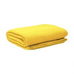 Плед флисовый, желтый
